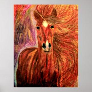 BRONZE STAR HORSE BY DEBBIE DAVIDSOHN POSTERS GIFT