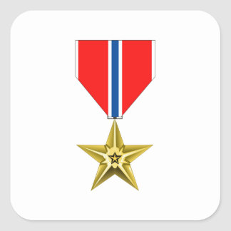BRONZE STAR MEDAL SQUARE STICKER