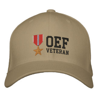 Bronze Star OEF Embroidered Baseball Hat