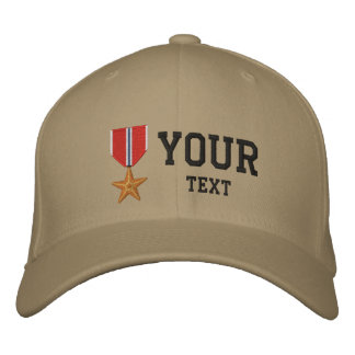 Bronze Star OEF Embroidered Baseball Caps