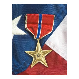 Bronze Star on American flag Flyer