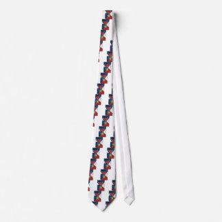 Bronze Star on American flag Neck Tie