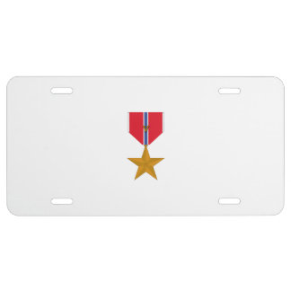 Bronze Star With 'V' for Valor License Plate