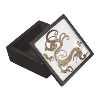 Bronze Stylized Chinese Dragon Gift Box