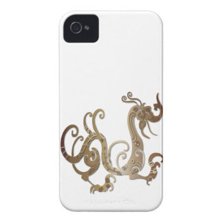 Bronze Stylized Chinese Dragon iPhone 4 Case-Mate Case
