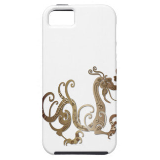 Bronze Stylized Chinese Dragon iPhone SE/5/5s Case