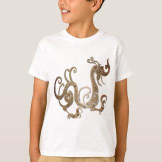 Bronze Stylized Chinese Dragon T-Shirt