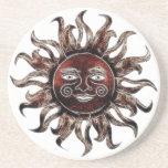 Bronze Sun Fractal Coasters