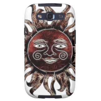 Bronze Sun Fractal Galaxy S3 Cases