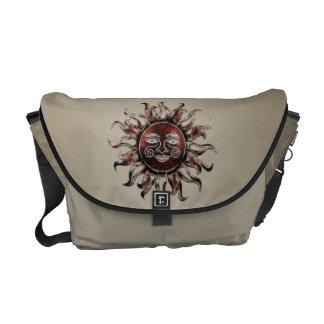 Bronze Sun Fractal Messenger Bag