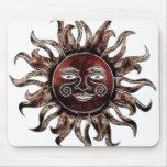 Bronze Sun Fractal Mousepads