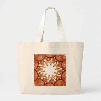 Bronze Sun Kaleidoscope Jumbo Tote Bag
