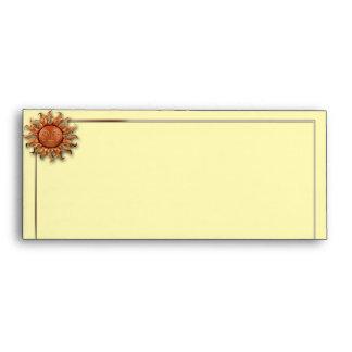 Bronze Sun on Cream Background Envelope