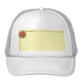 Bronze Sun on Cream Background Trucker Hats