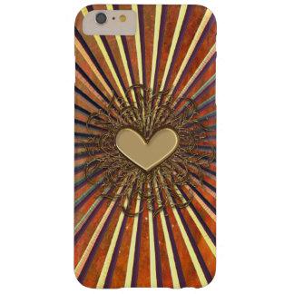Bronze Sunburst Heart iPhone 6 Plus Case