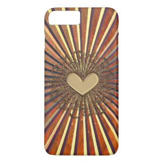 Bronze Sunburst Heart iPhone 7 Plus Case