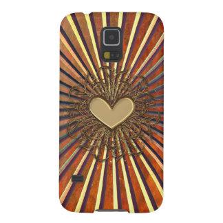 Bronze Sunburst Heart Samsung Galaxy S5 Case