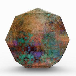Bronze, Teal, Purple Abstract Acrylic Award