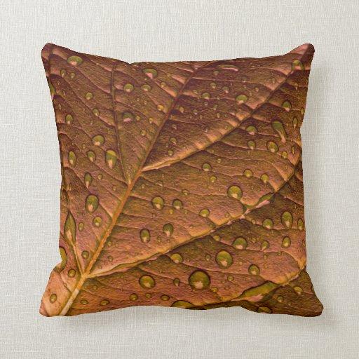 Leaf throw pillows