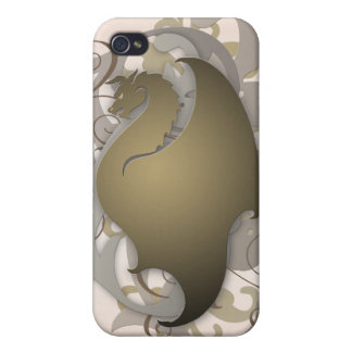 Bronze Urban Fantasy Dragon 4g I iPhone 4 Cover