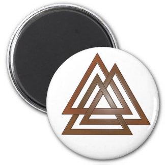 Bronze Valknut Magnet