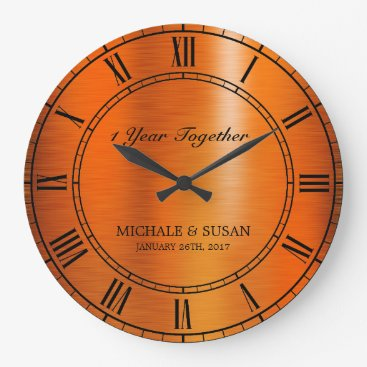 Bronze Wedding Anniversary Personalize Large Clock On Customgiftsmaker Com