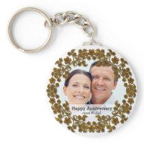 Bronze wedding anniversary with a photo keychain