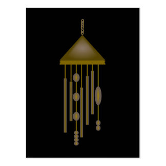 Bronze Wind Chime With Ovals And Circles Postcard