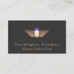 Candles business cards zazzle bronze wings candlemaker candle business card colourmoves