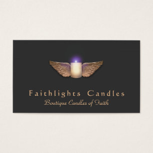 Candles business cards templates zazzle bronze wings candlemaker candle business card colourmoves Choice Image