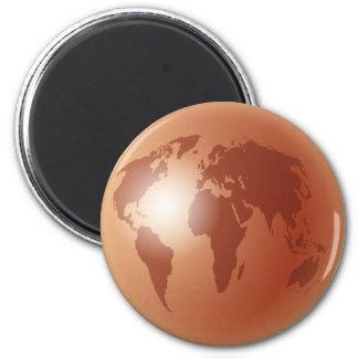 Bronze World Globe Magnet