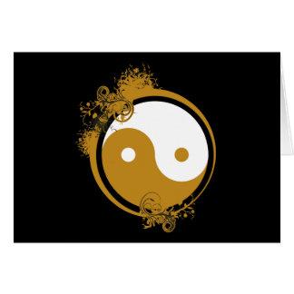Bronze Yin Yang Card