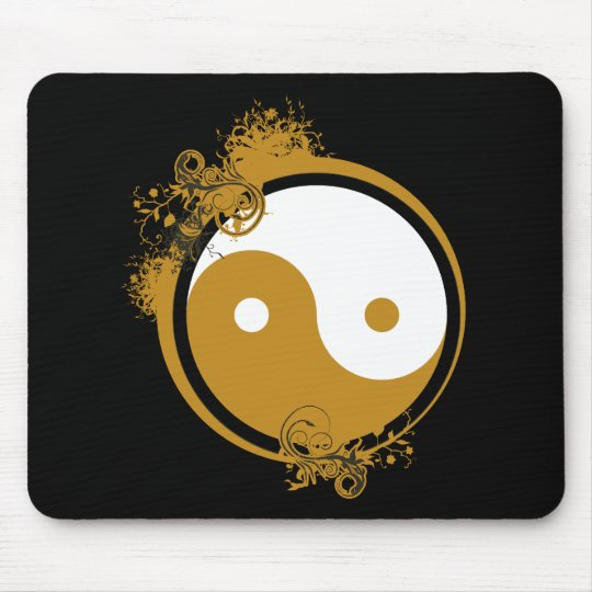Bronze Yin Yang Mouse Pad