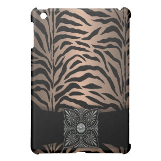 Bronze Zebra Black Velvet  iPad Mini Case