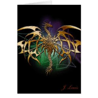 Bronzed Dragon Card