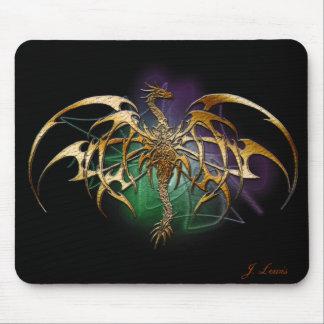 Bronzed Dragon Mouse Pad