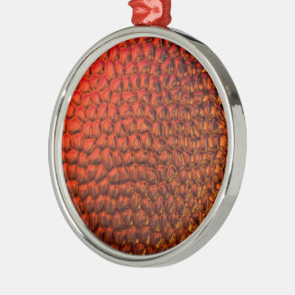Bronzed Gradient Glass Metal Ornament