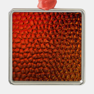 Bronzed Gradient Glass Metal Ornament