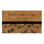 Bronzed Suede Business Cards
