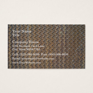 Bronzed Tread Plate Business Card