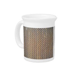 Bronzed Tread Plate Drink Pitchers