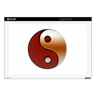 Bronzed Yin Yang Decals For Laptops