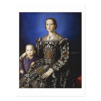 Bronzino Eleanor of Toledo and Her Son Postcard