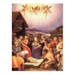 Bronzino - The Adoration of the Shepherds Post Card