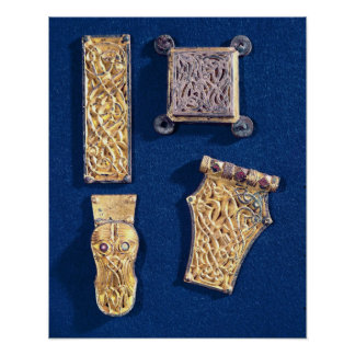Brooch and buckles poster