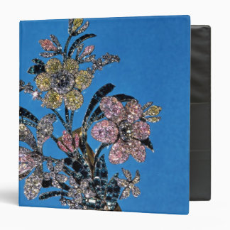 Brooch in form of large bouquet with brilliant binder