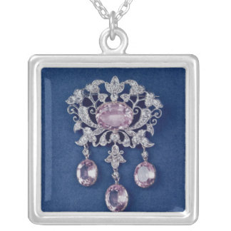 Brooch in shape of a flower, c.1780 square pendant necklace
