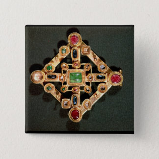 Brooch in the form of a Greek cross Pinback Button