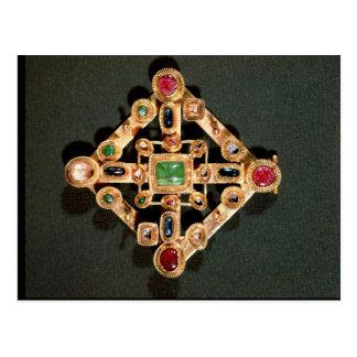 Brooch in the form of a Greek cross Postcard