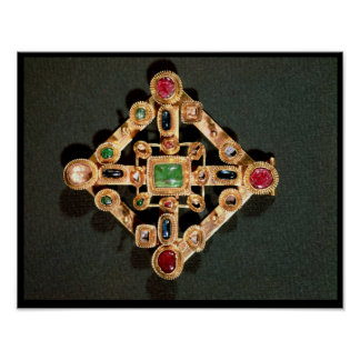 Brooch in the form of a Greek cross Poster